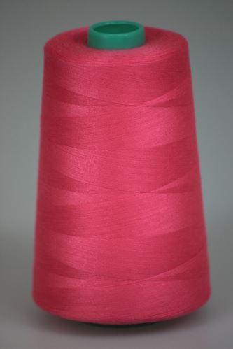 Niť KORALLI polyesterová 120, 5000Y, odtieň 3450, ružová
