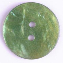 Knoflík perleťový zelený 300964, 18mm