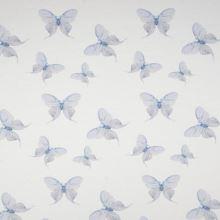 Úplet 21779 biely, modrí motýle, š.145