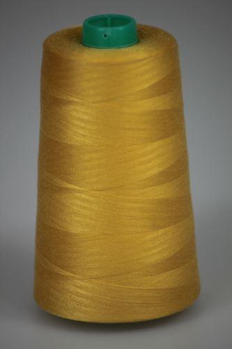 Niť KORALLI polyesterová 120, 5000Y, odtieň 2120, žltá