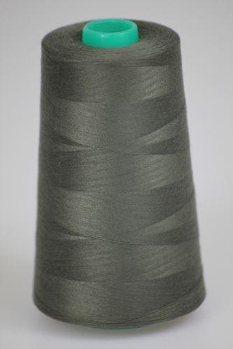 Niť KORALLI polyesterová 120, 5000Y, odtieň 6980, šedá