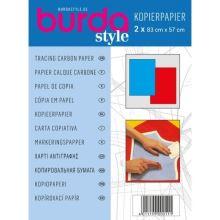 Kopírovací papier Burda, červeno-modrý, 83x57 cm, 2ks