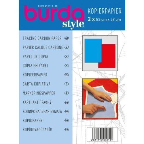 Kopírovací papír Burda, červeno-modrý, 83x57 cm, 2ks