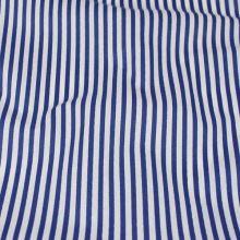 Bavlna modro bílé pruhy, š.140