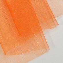 Tyl lesklý N3276, sýto oranžový š.155