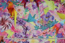 Teplákovina nepočesaná barevný vzor š.160