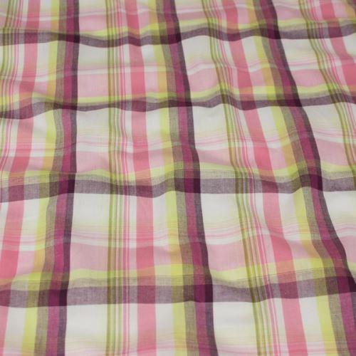Košilovina vzorovaná, barevné káro, š.150