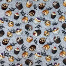 Úplet sivá melanž, muffiny a nápisy, š.180