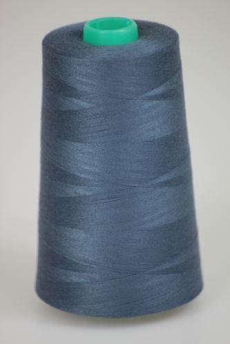 Niť KORALLI polyesterová 120, 5000Y, odtieň 5930, modrá-šedá