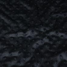 Minky černé, protlačované ťuplíky, š.150