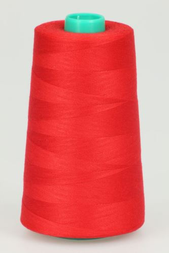 Nit KORALLI polyesterová 120, 5000Y, odstín 2520, červená