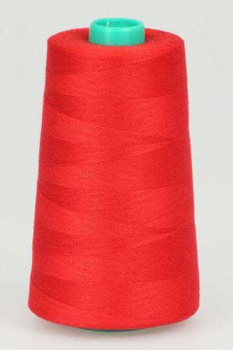 Niť KORALLI polyesterová 120, 5000Y, odtieň 2520, červená