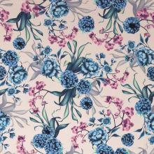 Šatovka růžová, modré ostružiny a orchideje, š.145