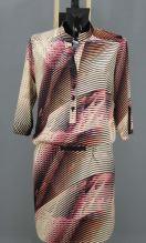 Satén fialovo-růžové vlny, š.145
