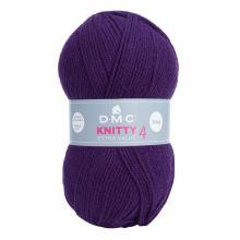 Příze KNITTY 4 100g, tmavě fialová - odstín 840