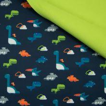 Softshell modrý, barevní dinosauři, š.145