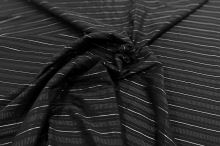 Košilovina 10142 černá, stříbrný pruh, š.150