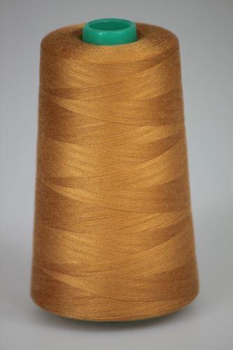 Niť KORALLI polyesterová 120, 5000Y, odtieň 8220, hnedá-oranžová
