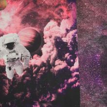Úplet vesmír s kosmonautem, š.150