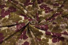 Šatovka béžovo-hnědá, fialový květ, š.145
