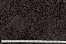 Košilovina 12377 khaki, černý květovaný vzor, š.135