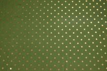 Hodvábny šifón zelený, zlatý bodka š.135