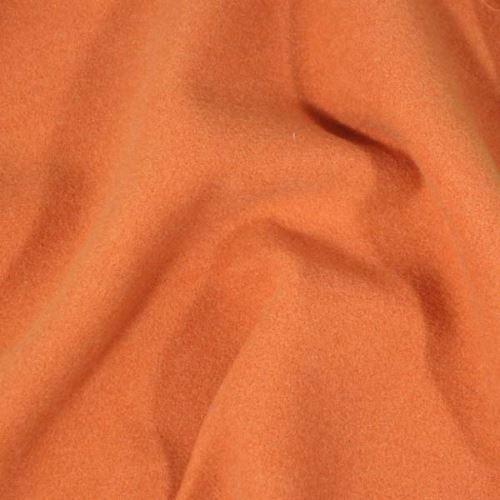 Flauš oranžový s elastanom, š.145