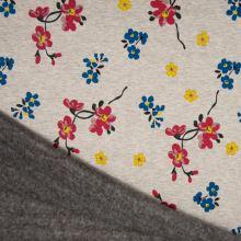 Warmkeeper šedý, barevné květy, š.145