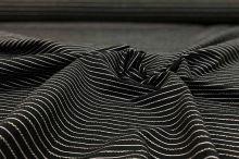 Košeľovina 06766 čierna, svetlý pruh, š.155