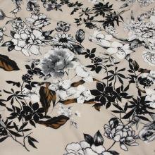 Šatovka béžová, bílý květ, š.140
