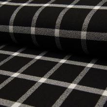 Kostýmovka CREPE čierna, káro, š.140