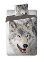 Bavlnené obliečky 140x200+70x90, vlk
