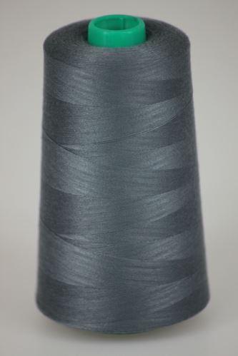 Niť KORALLI polyesterová 120, 5000Y, odtieň 9450, šedá