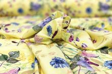 Šatovka SILKY žlutá, luční květy, š.145