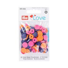 """Patentky Prym Love kulaté """"Color Snaps"""" 393006, 12,4 mm"""