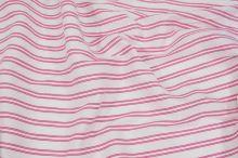 Košilovina bílá, růžový pruh, š.155