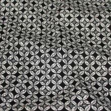 Bavlna čierno-biely geometrický vzor, š.145
