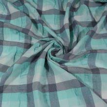 Košilovina tyrkysové káro, š.130
