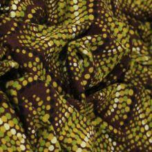 Úplet hnedý, farebný bodkovaný vzor, š.155