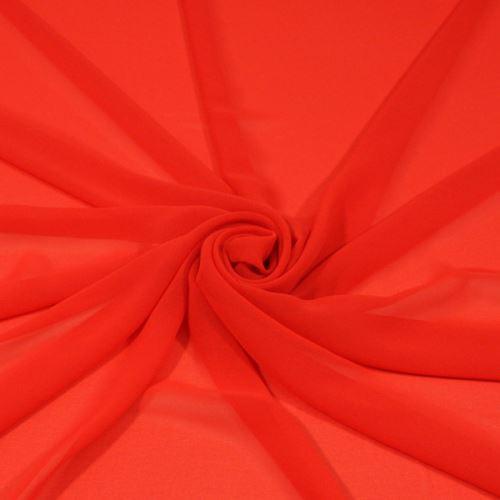 Šifon oranžovočervený, š.145