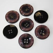 Gombík ružovo vzorovaný K40-2, priemer 25 mm.