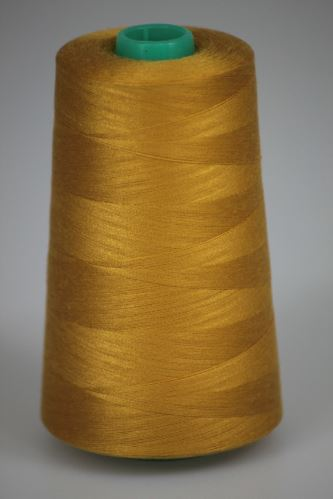 Niť KORALLI polyesterová 120, 5000Y, odtieň 1440, žltá