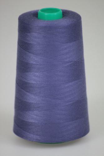 Niť KORALLI polyesterová 120, 5000Y, odtieň 4640, modrá