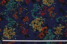 Kostýmovka modrá 15188, barevný vzor, š.150