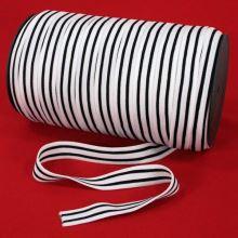 Pruženka lemovací černobílá, šíře 15mm