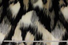 Kožešina dlouhý vlas, barevný vzor, š.155
