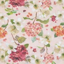 Dekorační látka pudrová, květinový vzor, š.140