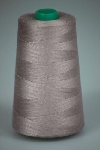 Niť KORALLI polyesterová 120, 5000, odtieň 3230, ružová-béžová