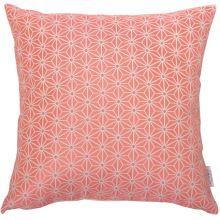 Dekoračný vankúš, ružovo-biely vzor, 45x45 cm