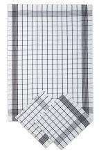 Utěrky bavlněné, pozitiv bílo-černá, 50x70cm, 3ks